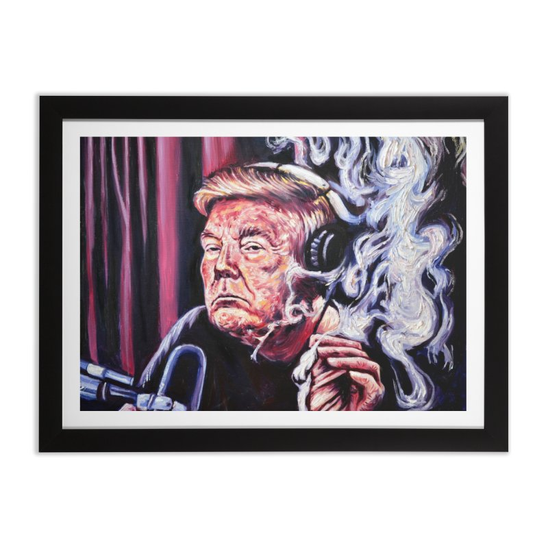 smoking donald Home Framed Fine Art Print by paintings by Seamus Wray