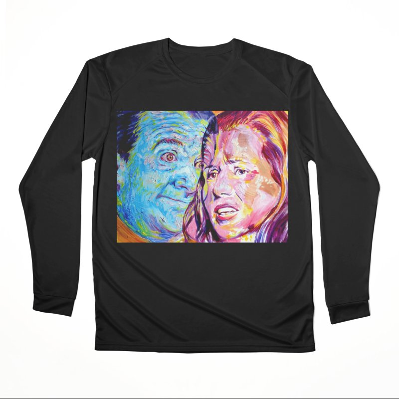 the exact moment Men's Performance Longsleeve T-Shirt by paintings by Seamus Wray
