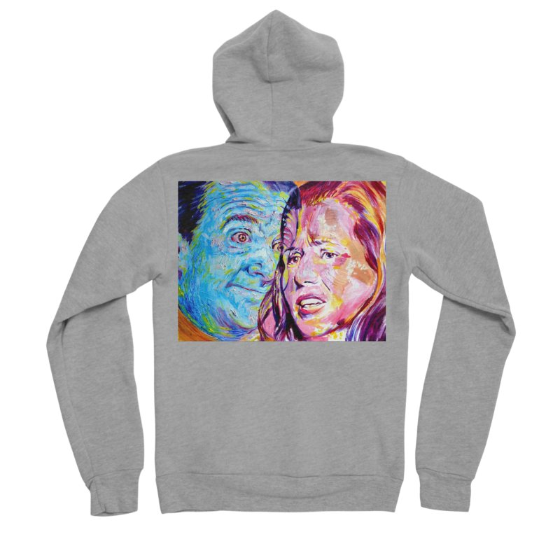the exact moment Women's Sponge Fleece Zip-Up Hoody by paintings by Seamus Wray