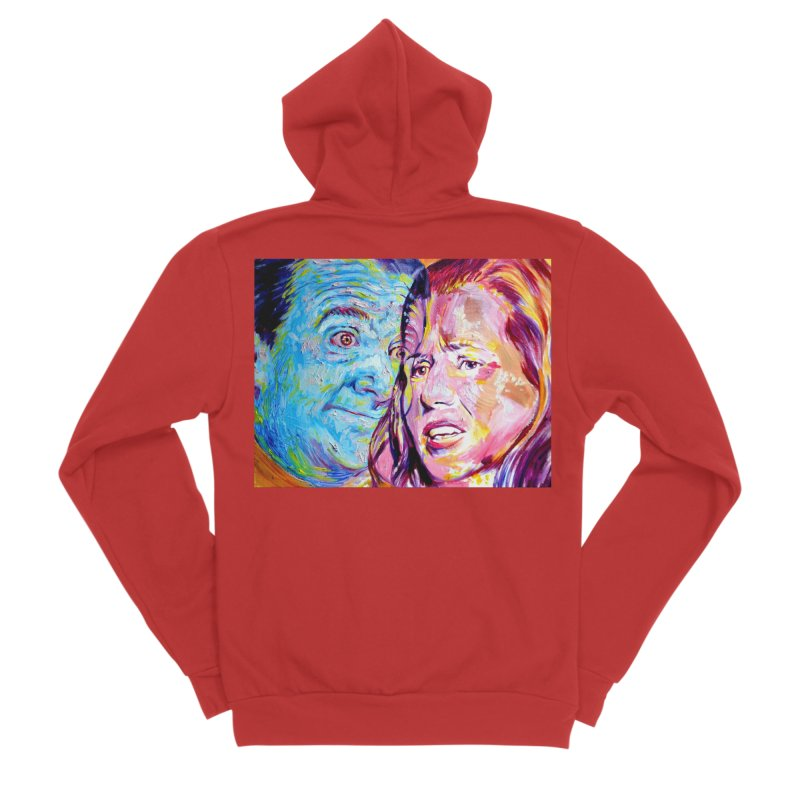 the exact moment Men's Zip-Up Hoody by paintings by Seamus Wray
