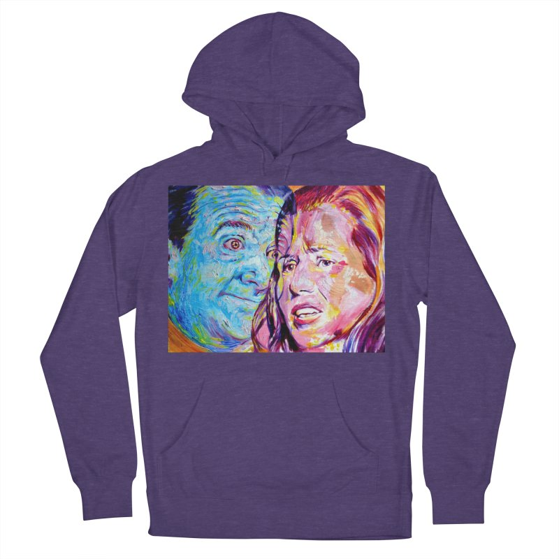 the exact moment Women's French Terry Pullover Hoody by paintings by Seamus Wray