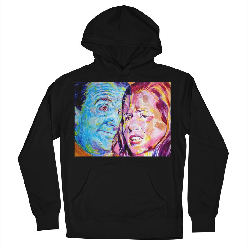 the exact moment Men's French Terry Pullover Hoody by paintings by Seamus Wray