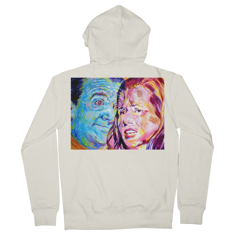 the exact moment Women's French Terry Zip-Up Hoody by paintings by Seamus Wray