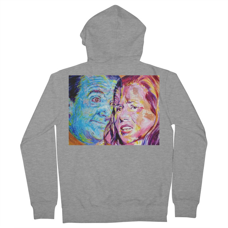 the exact moment Men's French Terry Zip-Up Hoody by paintings by Seamus Wray