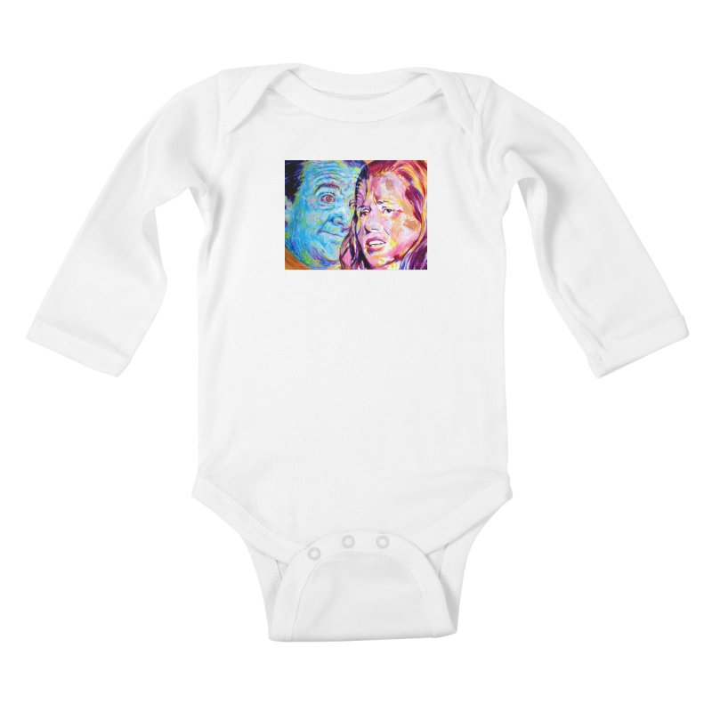 the exact moment Kids Baby Longsleeve Bodysuit by paintings by Seamus Wray