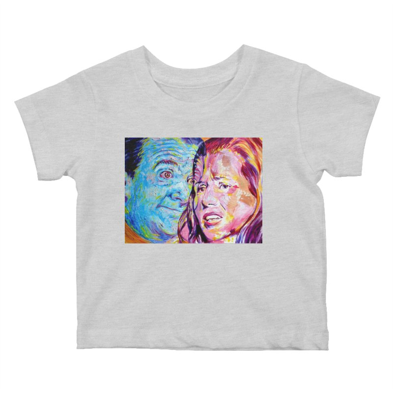 the exact moment Kids Baby T-Shirt by paintings by Seamus Wray