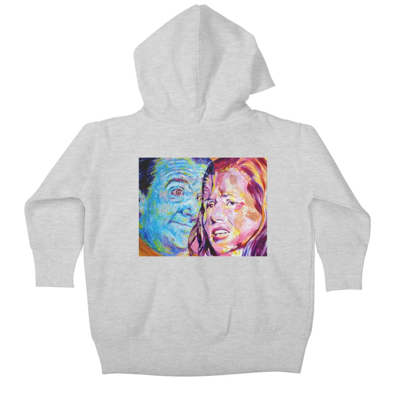 the exact moment Kids Baby Zip-Up Hoody by paintings by Seamus Wray