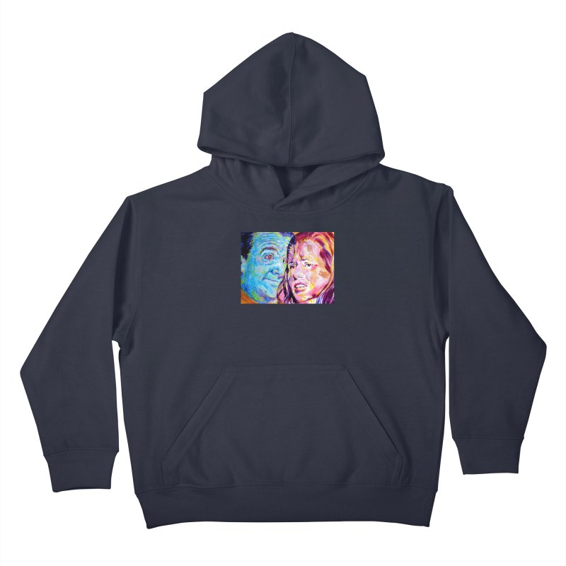the exact moment Kids Pullover Hoody by paintings by Seamus Wray
