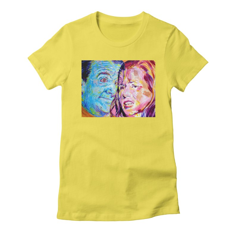 the exact moment Women's Fitted T-Shirt by paintings by Seamus Wray