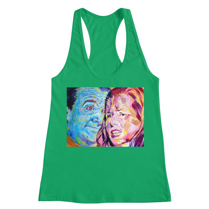 the exact moment Women's Racerback Tank by paintings by Seamus Wray