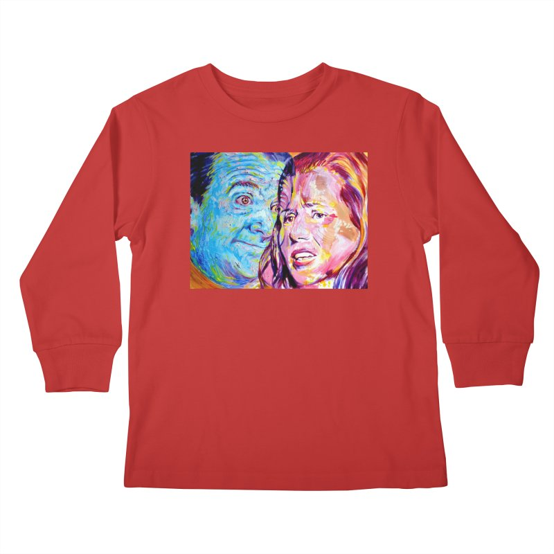 the exact moment Kids Longsleeve T-Shirt by paintings by Seamus Wray
