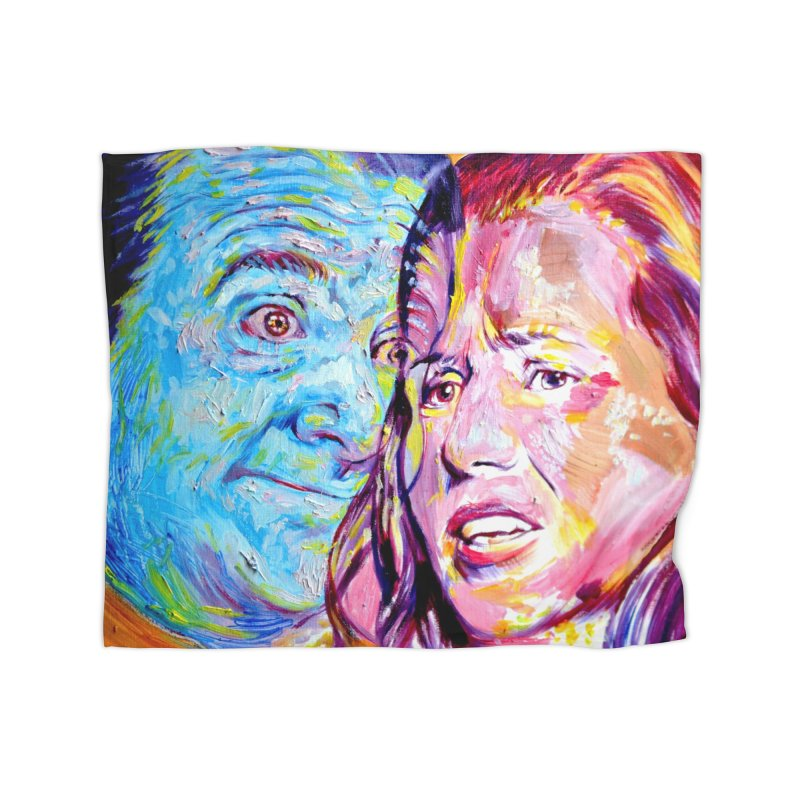 the exact moment Home Fleece Blanket Blanket by paintings by Seamus Wray