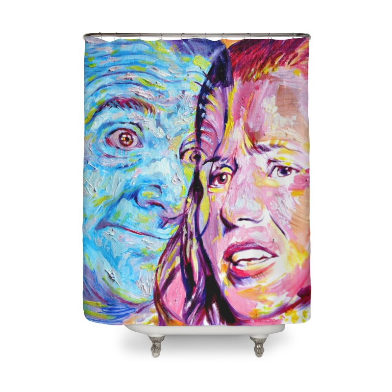 the exact moment Home Shower Curtain by paintings by Seamus Wray