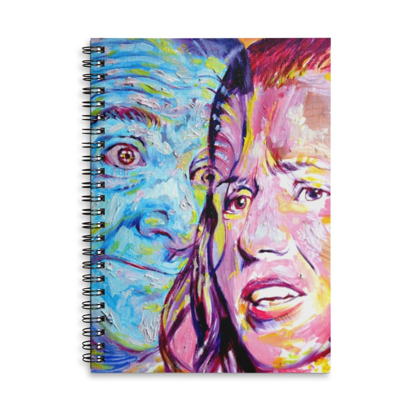 the exact moment Accessories Lined Spiral Notebook by paintings by Seamus Wray