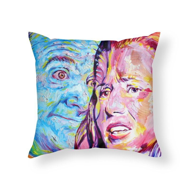 the exact moment Home Throw Pillow by paintings by Seamus Wray