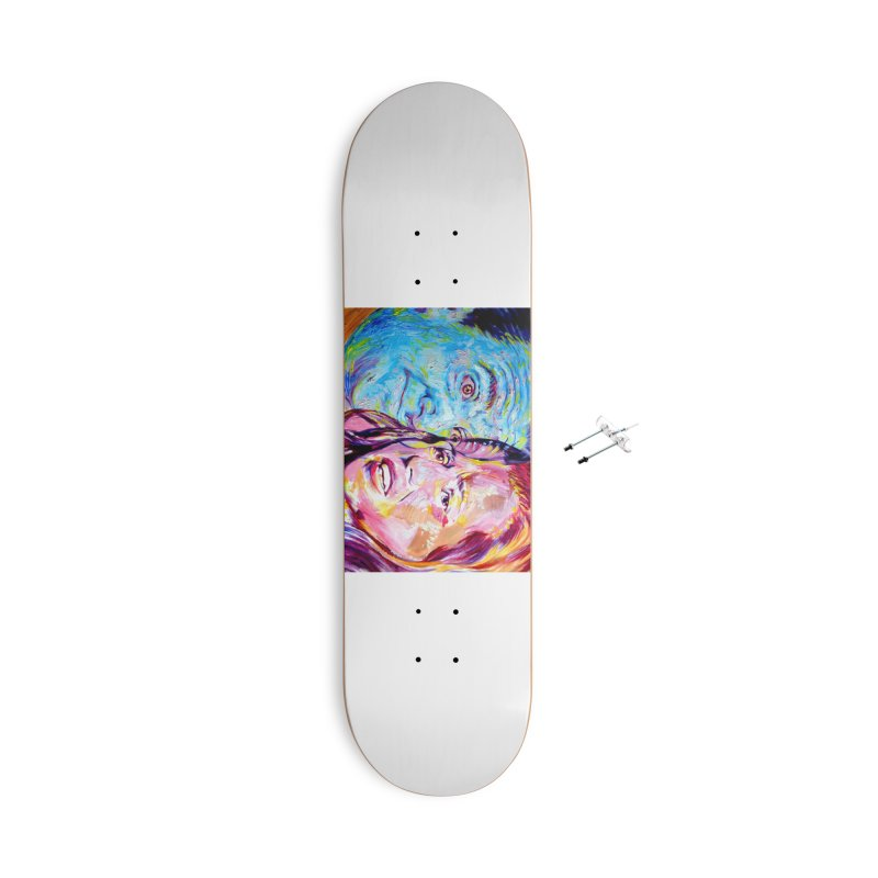 the exact moment Accessories With Hanging Hardware Skateboard by paintings by Seamus Wray