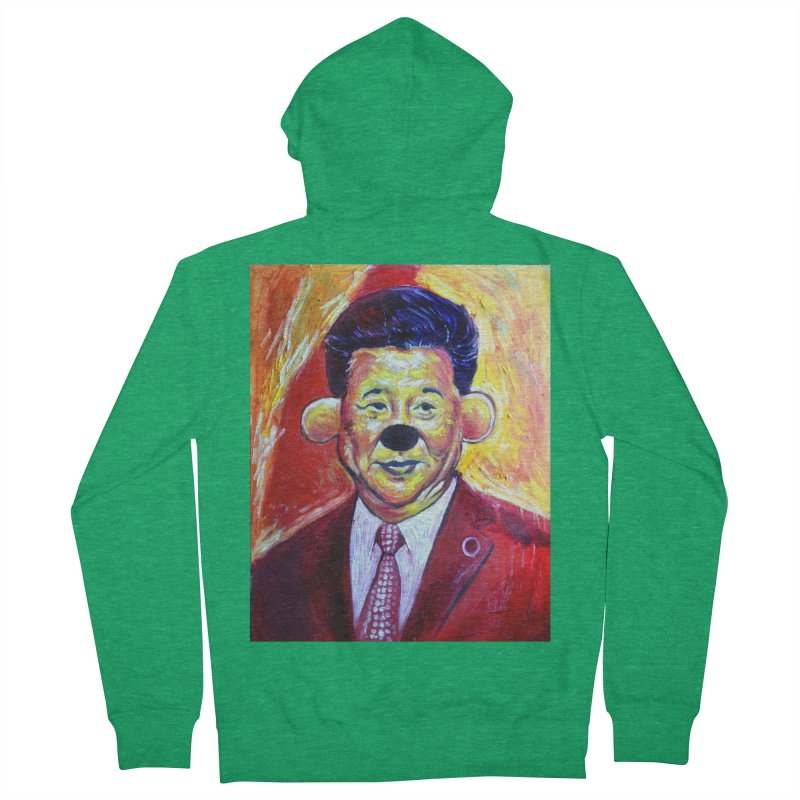 winnie Men's French Terry Zip-Up Hoody by paintings by Seamus Wray