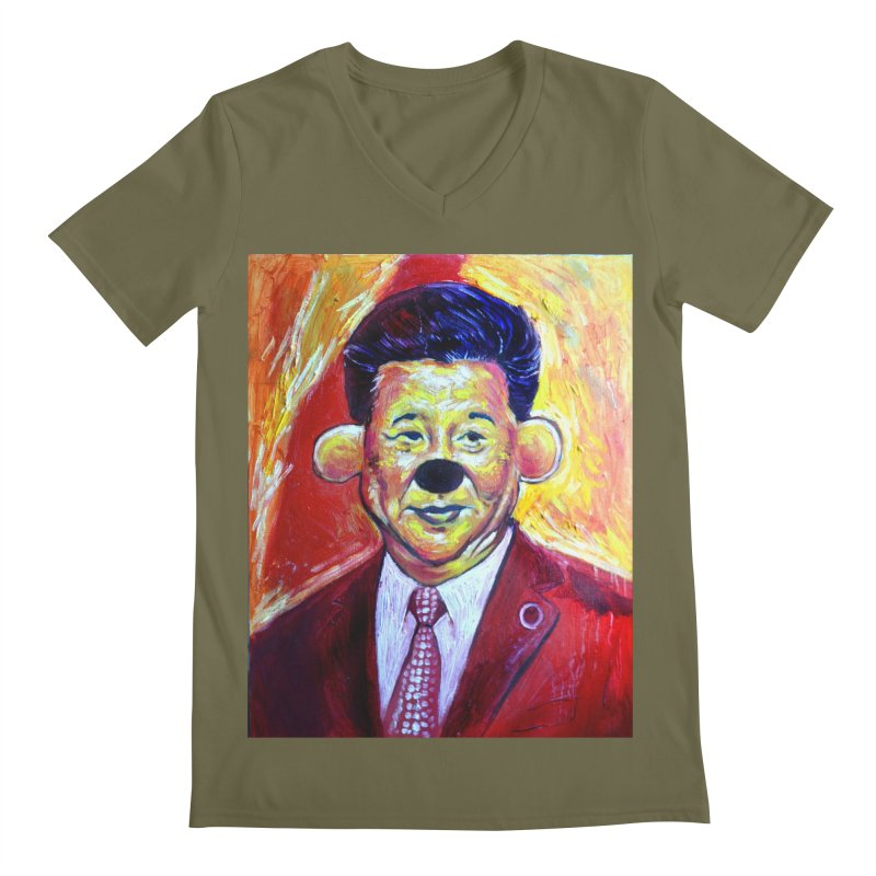 winnie Men's Regular V-Neck by paintings by Seamus Wray