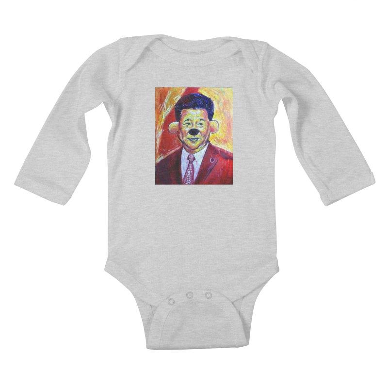 winnie Kids Baby Longsleeve Bodysuit by paintings by Seamus Wray