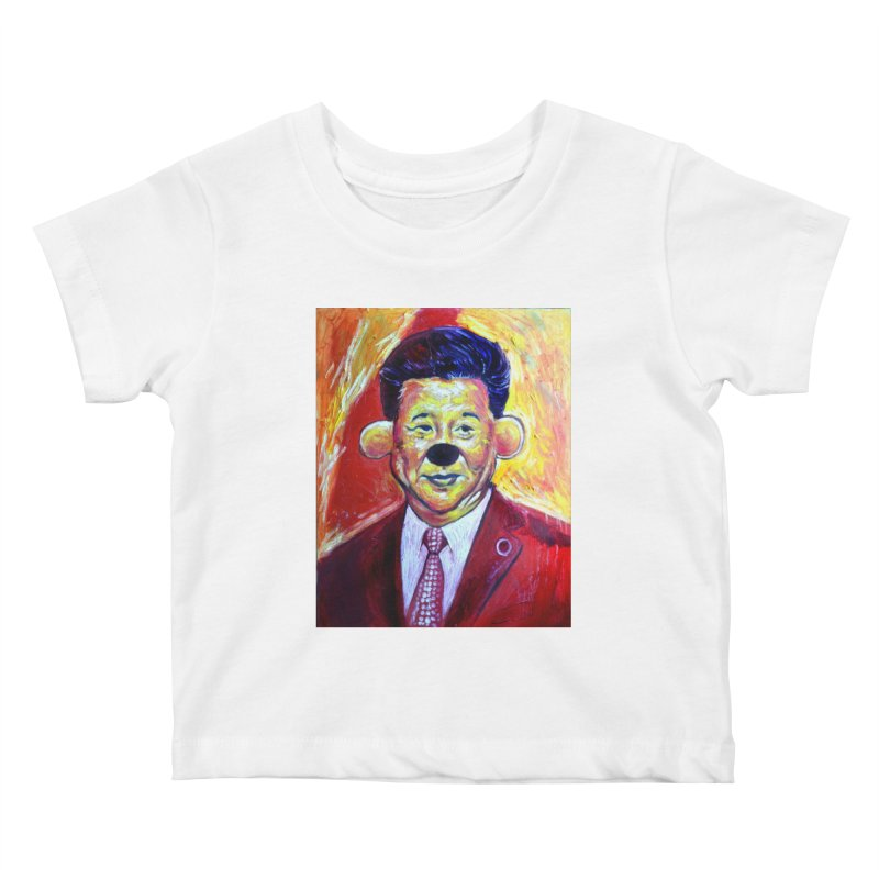 winnie Kids Baby T-Shirt by paintings by Seamus Wray