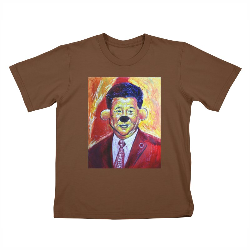 winnie Kids T-Shirt by paintings by Seamus Wray