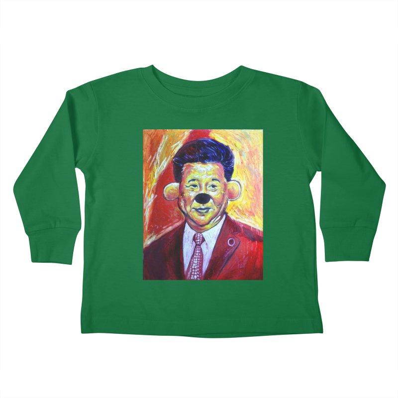 winnie Kids Toddler Longsleeve T-Shirt by paintings by Seamus Wray