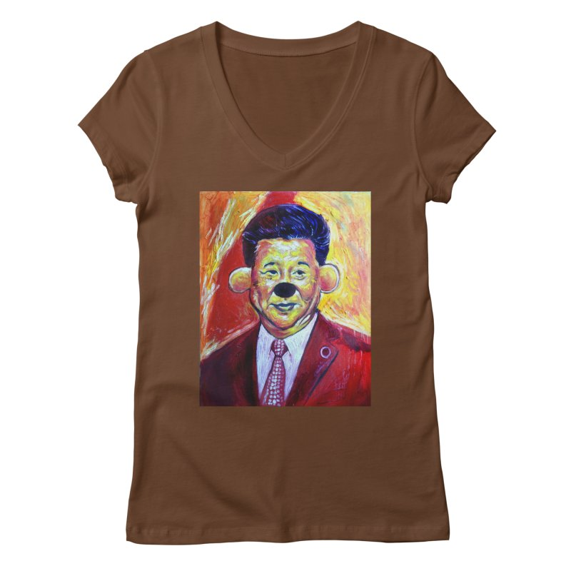 winnie Women's Regular V-Neck by paintings by Seamus Wray