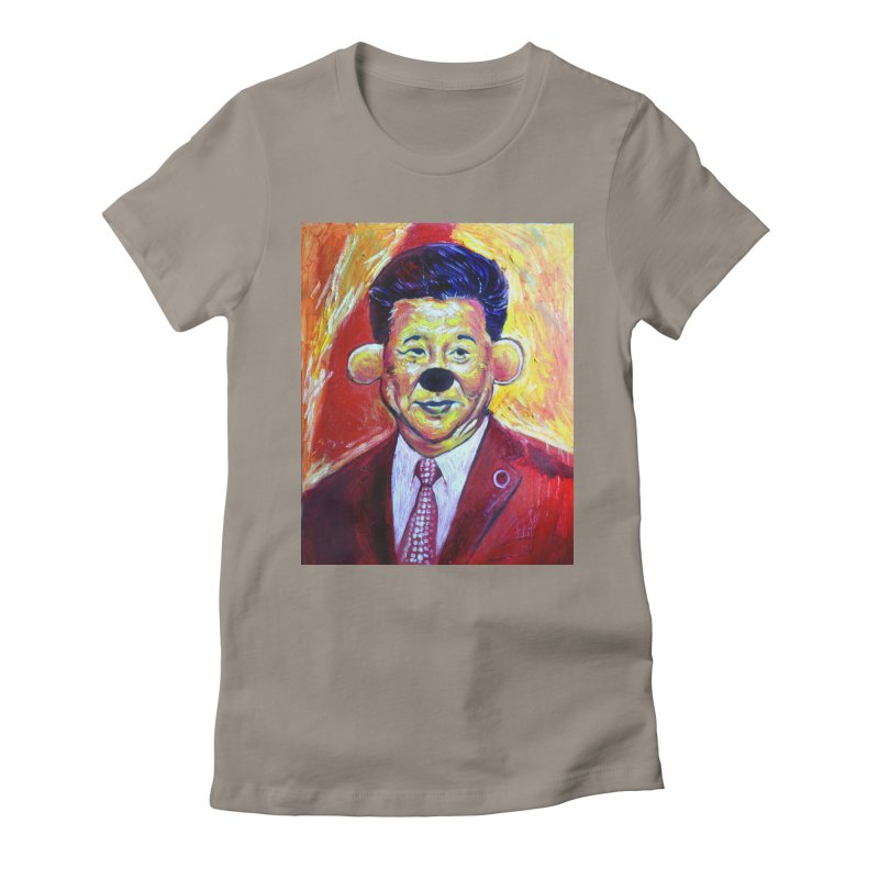 winnie Women's Fitted T-Shirt by paintings by Seamus Wray