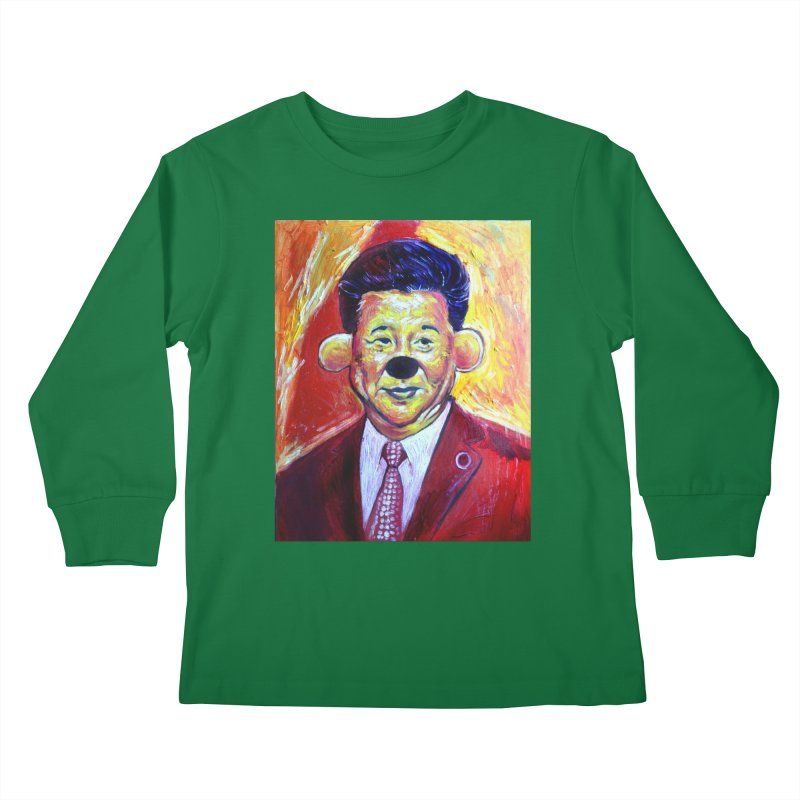 winnie Kids Longsleeve T-Shirt by paintings by Seamus Wray