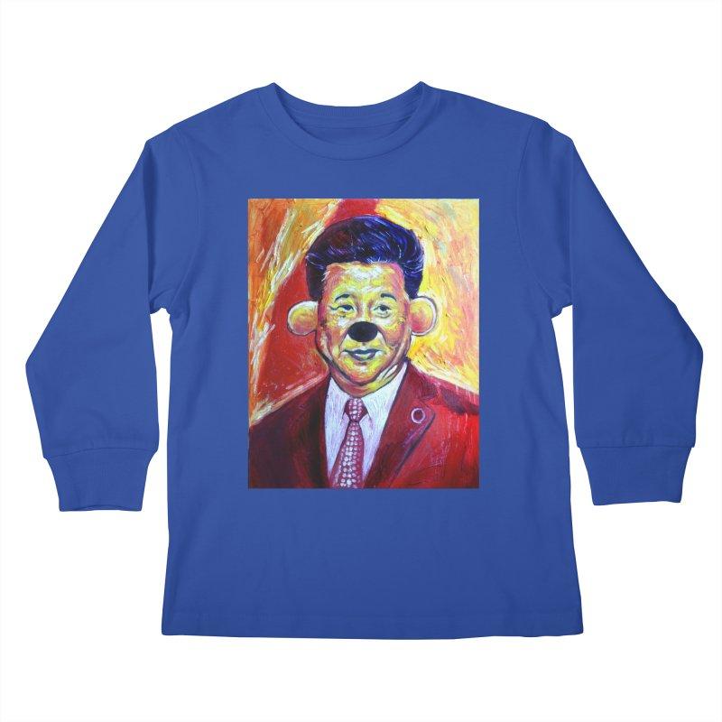 winnie Kids Longsleeve T-Shirt by paintings by Seamus Wray