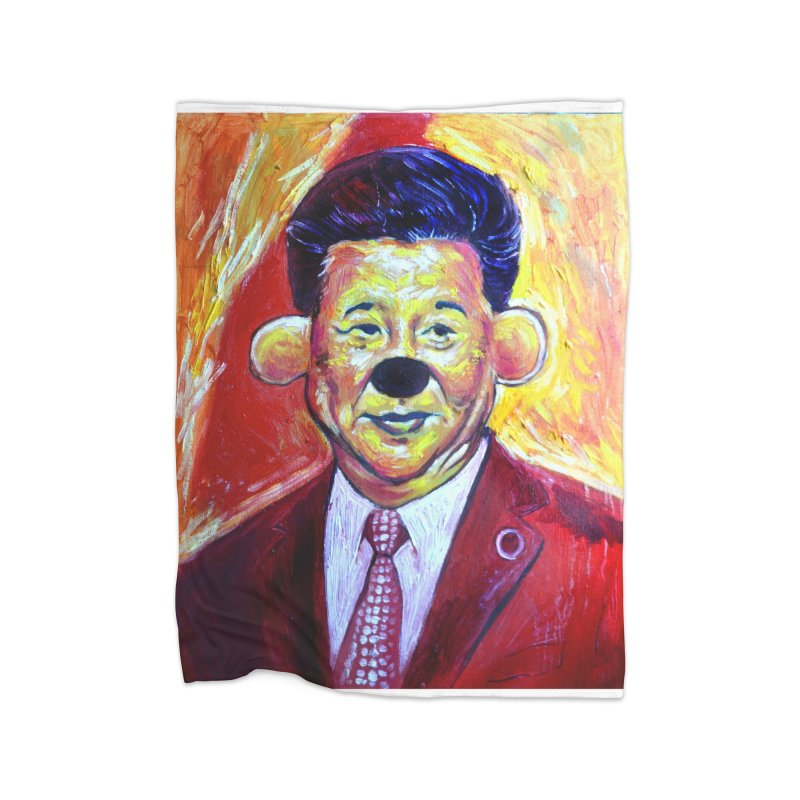 winnie Home Fleece Blanket Blanket by paintings by Seamus Wray