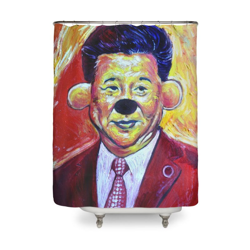winnie Home Shower Curtain by paintings by Seamus Wray