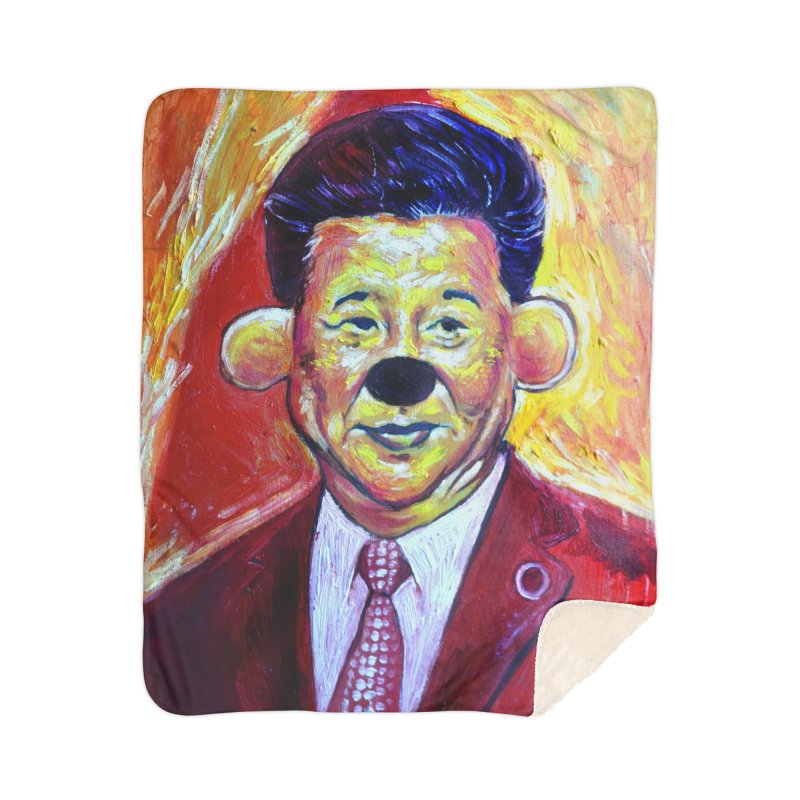winnie Home Sherpa Blanket Blanket by paintings by Seamus Wray