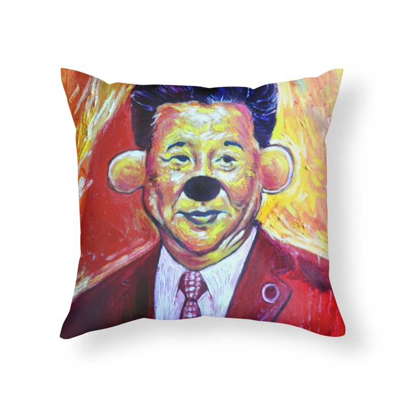 winnie Home Throw Pillow by paintings by Seamus Wray