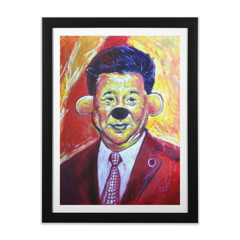 winnie Home Framed Fine Art Print by paintings by Seamus Wray