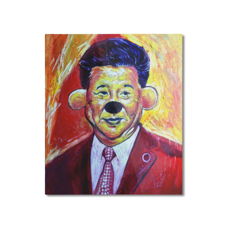 winnie Home Mounted Aluminum Print by paintings by Seamus Wray