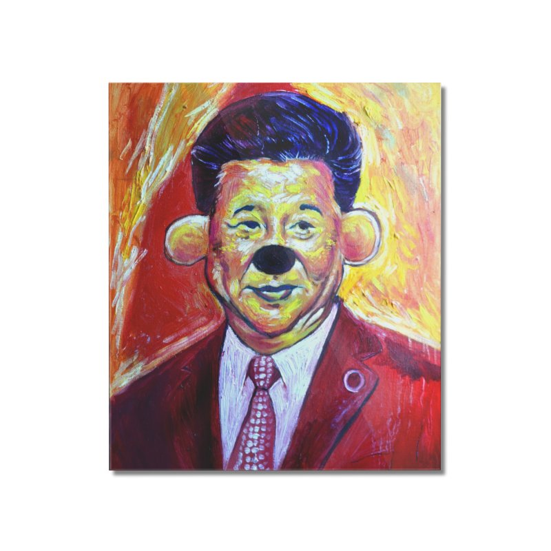 winnie Home Mounted Acrylic Print by paintings by Seamus Wray
