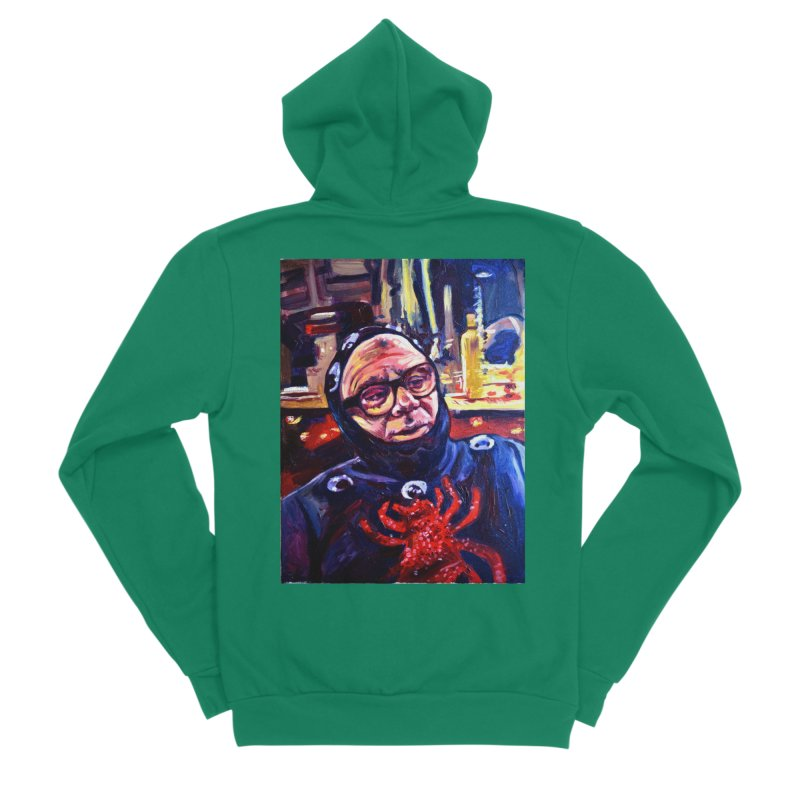 man-spider Women's Sponge Fleece Zip-Up Hoody by paintings by Seamus Wray