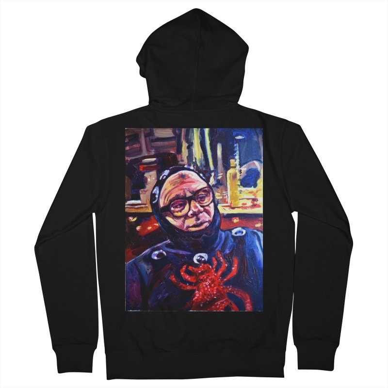 man-spider Women's French Terry Zip-Up Hoody by paintings by Seamus Wray
