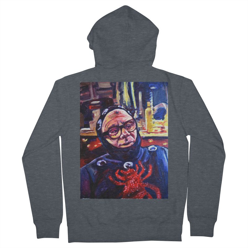 man-spider Men's French Terry Zip-Up Hoody by paintings by Seamus Wray
