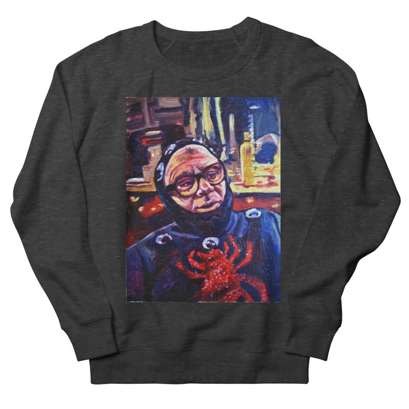 man-spider Men's French Terry Sweatshirt by paintings by Seamus Wray