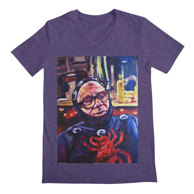 man-spider Men's Regular V-Neck by paintings by Seamus Wray