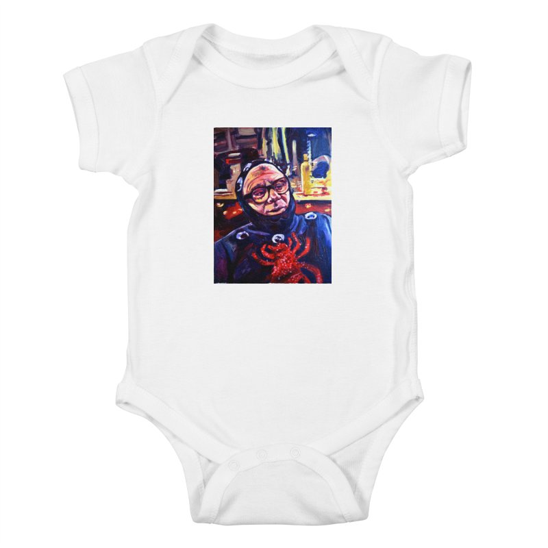 man-spider Kids Baby Bodysuit by paintings by Seamus Wray