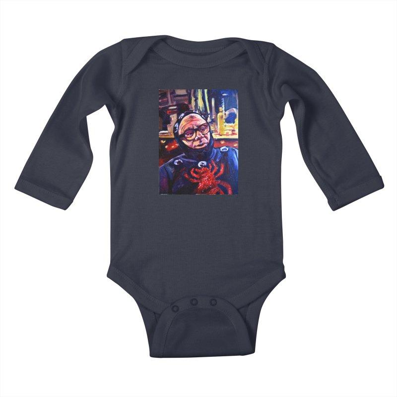 man-spider Kids Baby Longsleeve Bodysuit by paintings by Seamus Wray