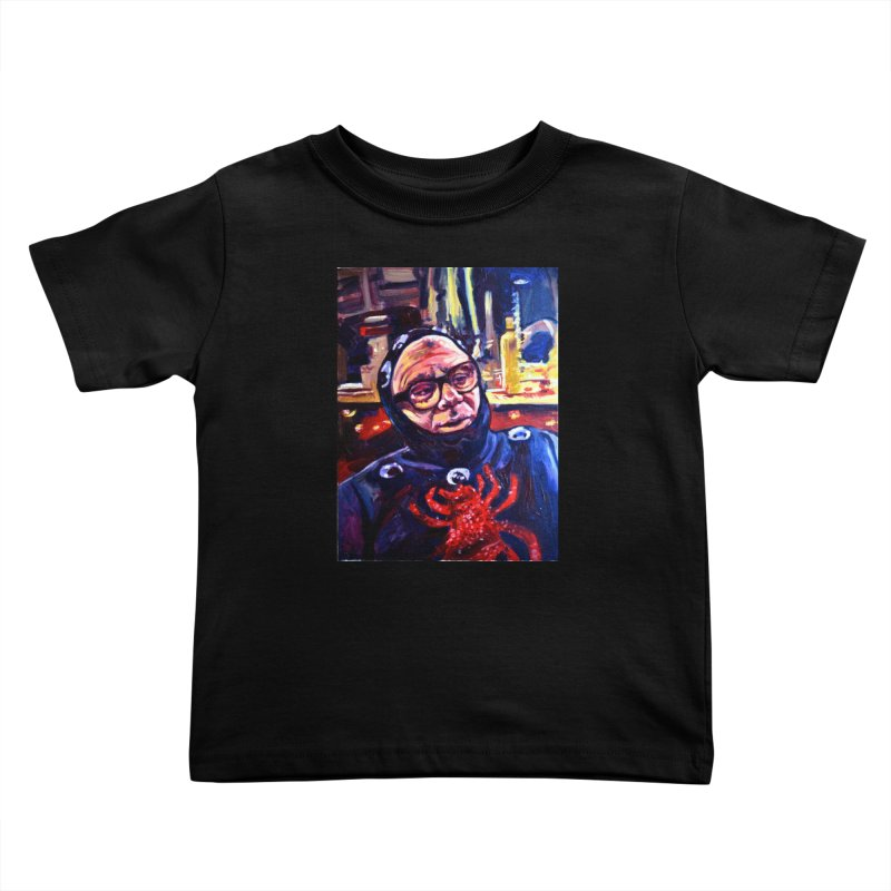 man-spider Kids Toddler T-Shirt by paintings by Seamus Wray