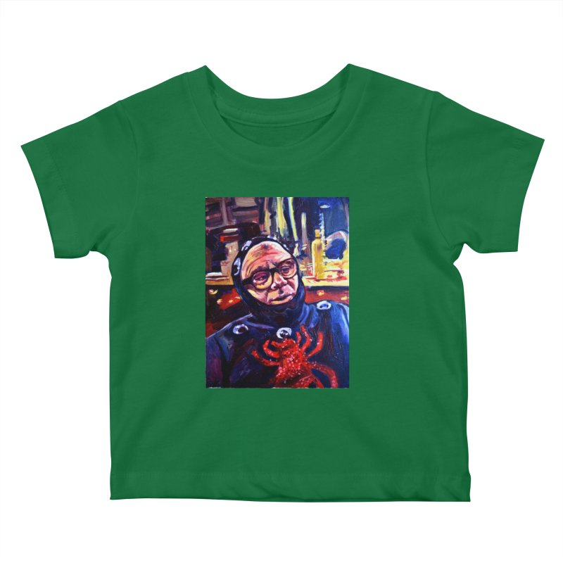 man-spider Kids Baby T-Shirt by paintings by Seamus Wray