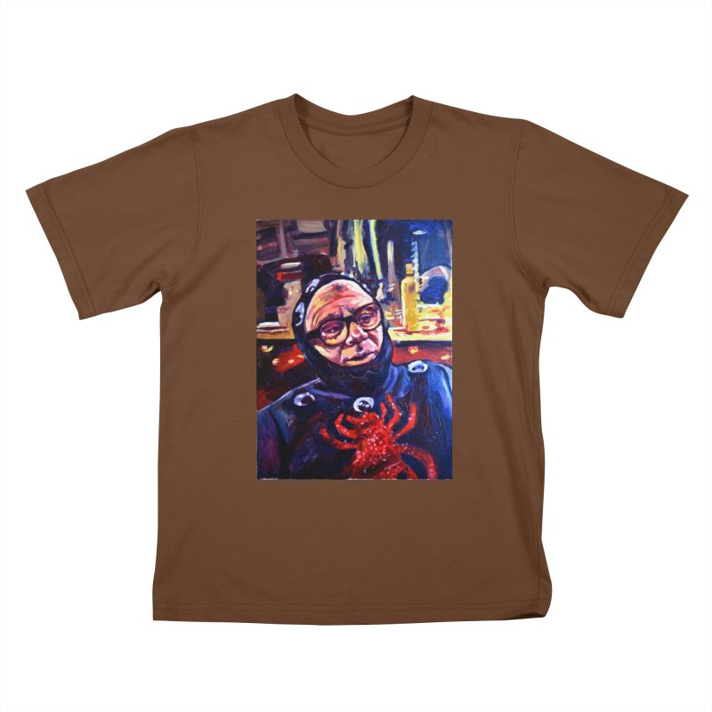 man-spider Kids T-Shirt by paintings by Seamus Wray