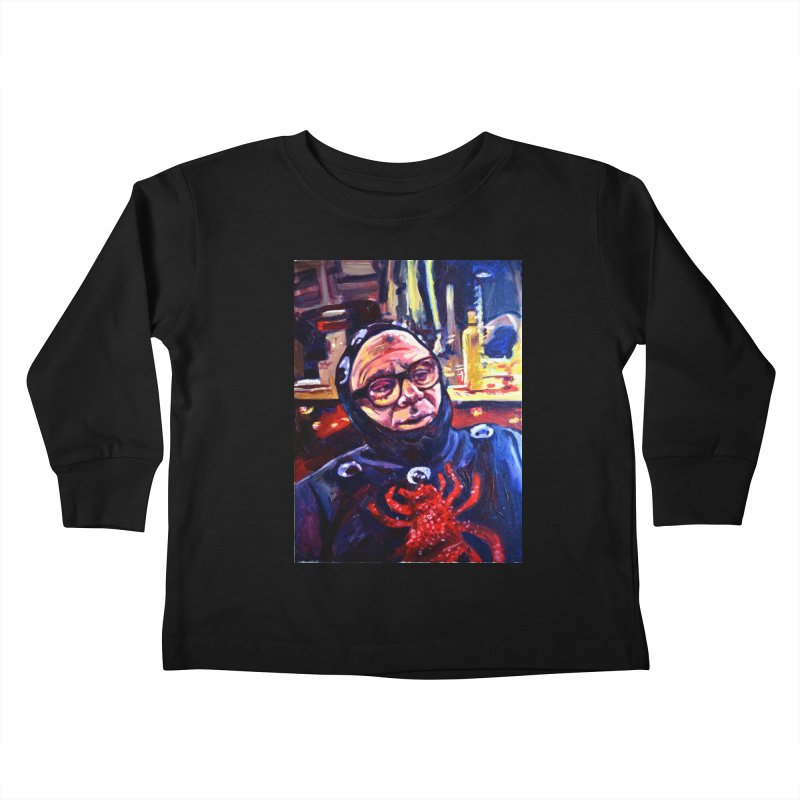 man-spider Kids Toddler Longsleeve T-Shirt by paintings by Seamus Wray