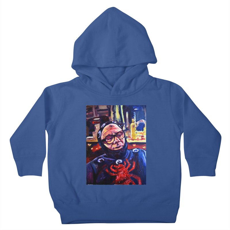 man-spider Kids Toddler Pullover Hoody by paintings by Seamus Wray