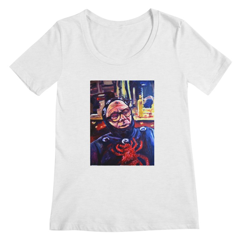 man-spider Women's Regular Scoop Neck by paintings by Seamus Wray